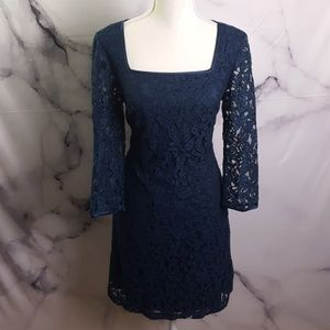 Adrianna Papell Navy Lace Dress
